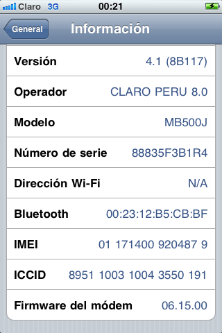 Iphone [3G] [3GS]: Jailbreak y Unlock iOS 4 1 y 4 2 1 Todas